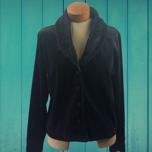 Carol Little Velvet Blazer Black Size Large